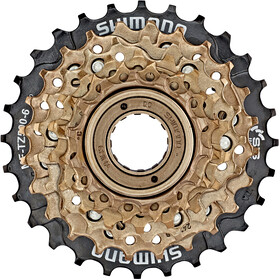 Shimano MF-TZ500 Screw Ring 6-delt brown/black